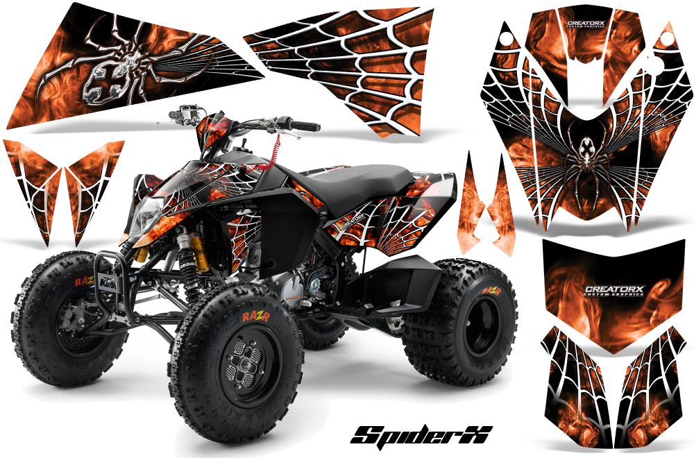 ktm atv 450/525 sx xc quad creatorx graphic kit decals sxowb