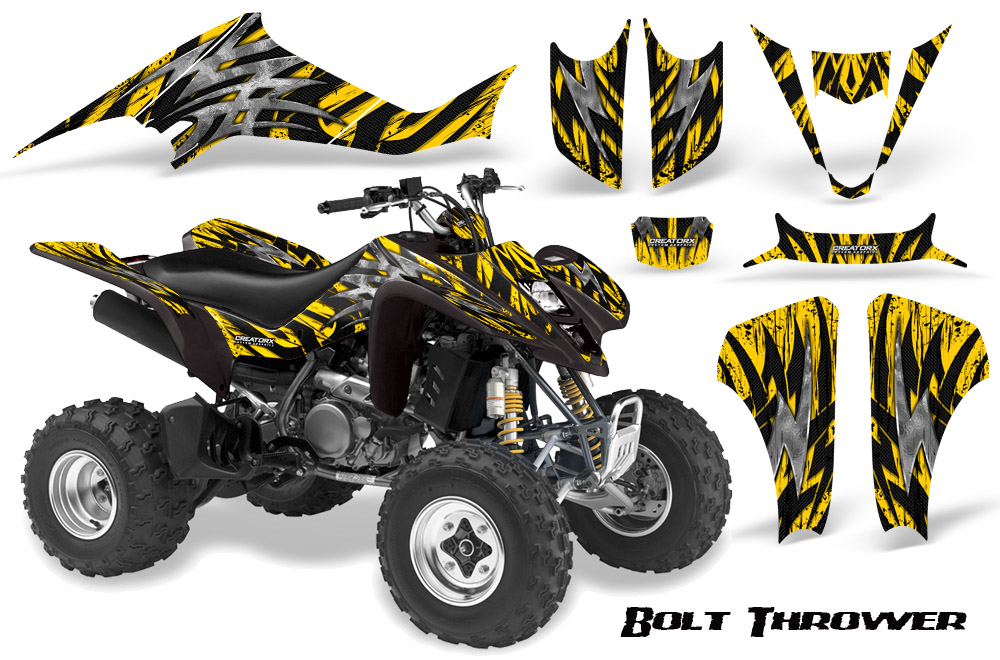 suzuki ltz 400 kawasaki kfx 400 03 08 graphics kit creatorx decals bty ebay. Black Bedroom Furniture Sets. Home Design Ideas