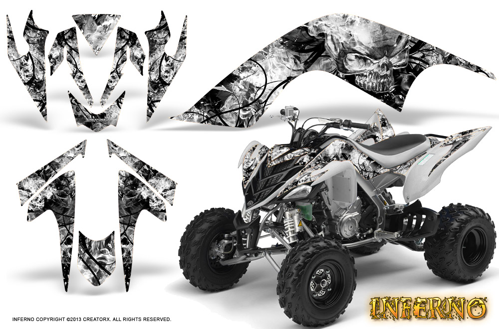 Yamaha Raptor 700 Graphics Kit Decals Stickers Creatorx