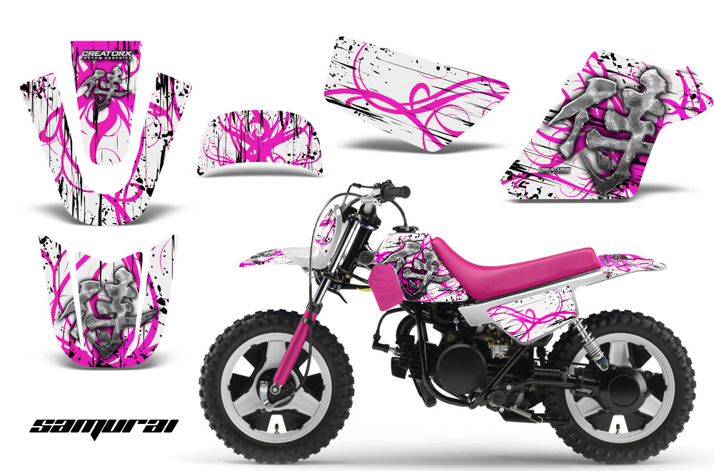 Yamaha Pw50 Creatorx Graphics Kit Decals Samurai Pw