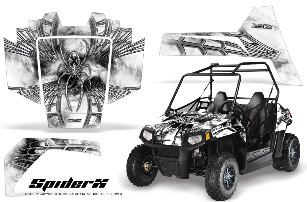 polaris rzr 170 youth utv side x side graphics kit creatorx decals spiderx w ebay. Black Bedroom Furniture Sets. Home Design Ideas