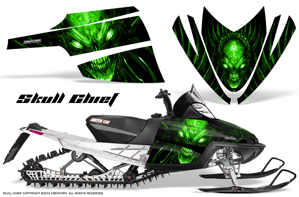 Arctic cat m crossfire snowmobile sled graphics kit wrap for Yamaha grizzly 350 for sale craigslist