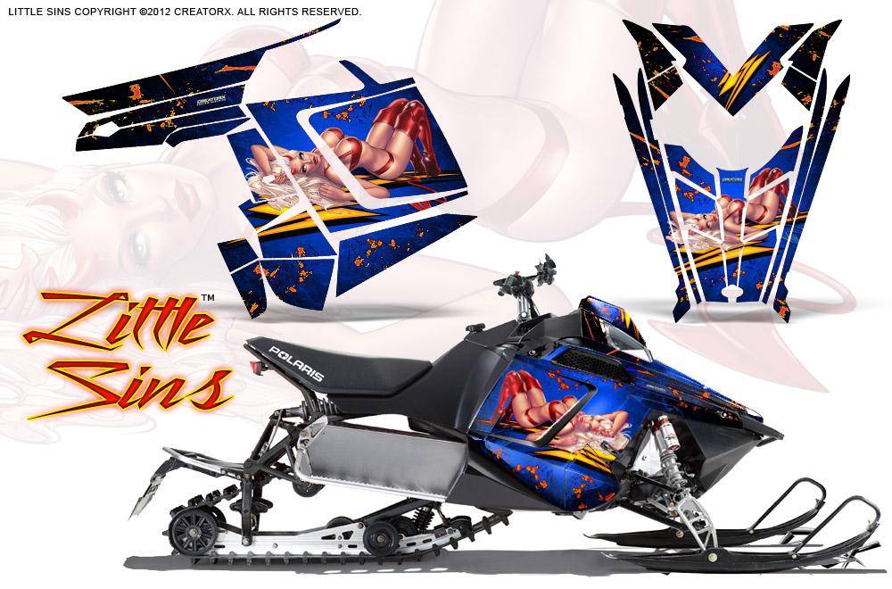 Polaris Rush Pro Rmk 600 800 Sled Snowmobile Graphics Kit