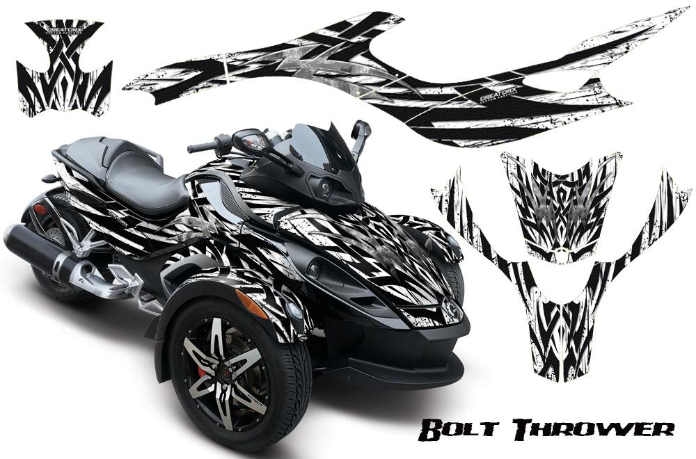 Can Am BRP Spyder Graphics Kit Decals Bolt Thrower BTWB