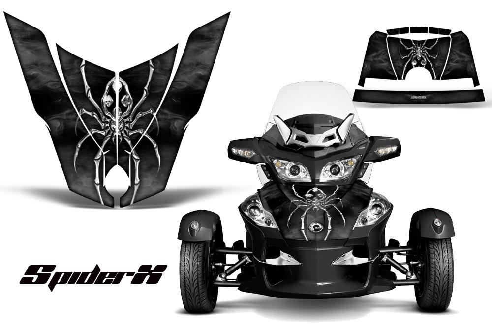 can am brp spyder rt hood graphics kit spiderx slg ebay. Black Bedroom Furniture Sets. Home Design Ideas
