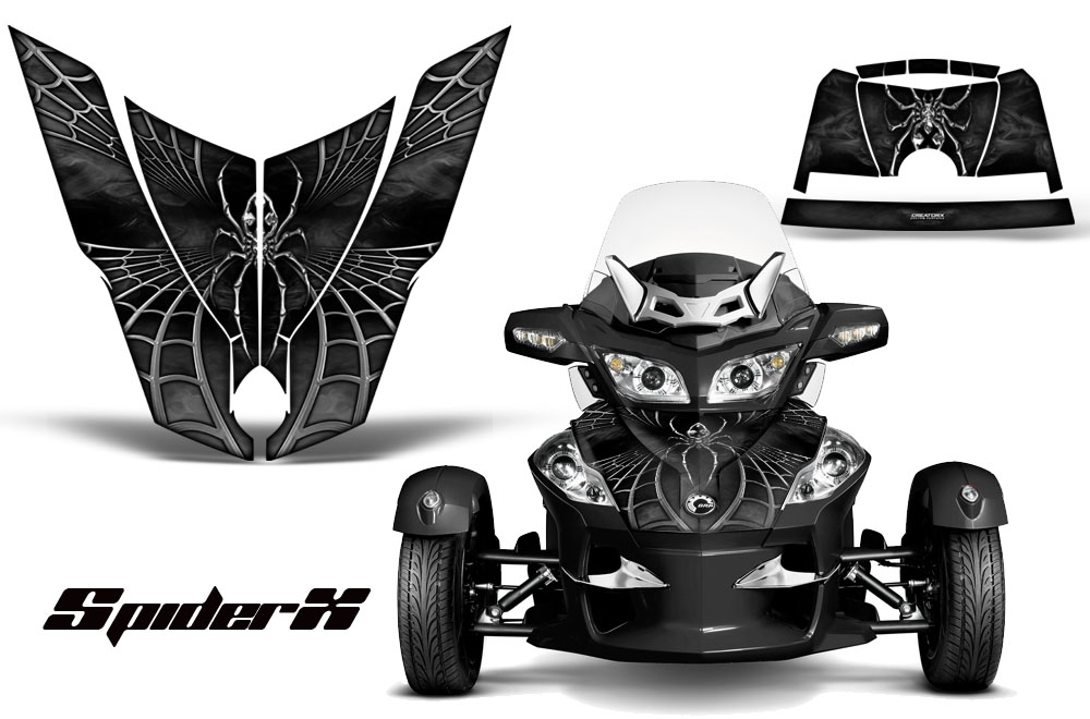 CAN-AM BRP SPYDER RS GS HOOD GRAPHICS KIT CREATORX DECALS YRG