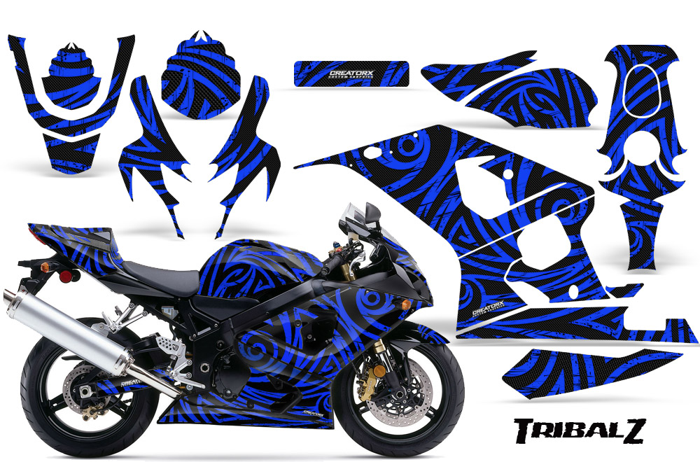 tribal stickers body eBay 600 Graphic 2005  2004 TZBL Kits 750 Decals Creatorx  Stickers