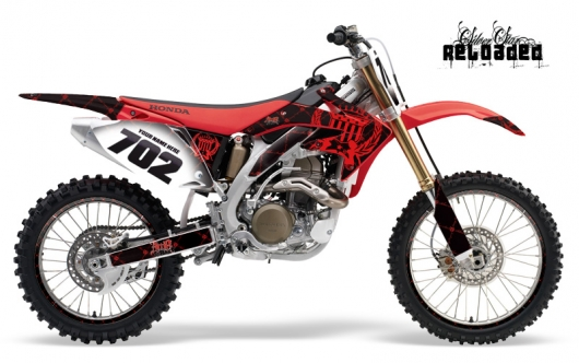 Silver Star Honda MX Graphics Kit