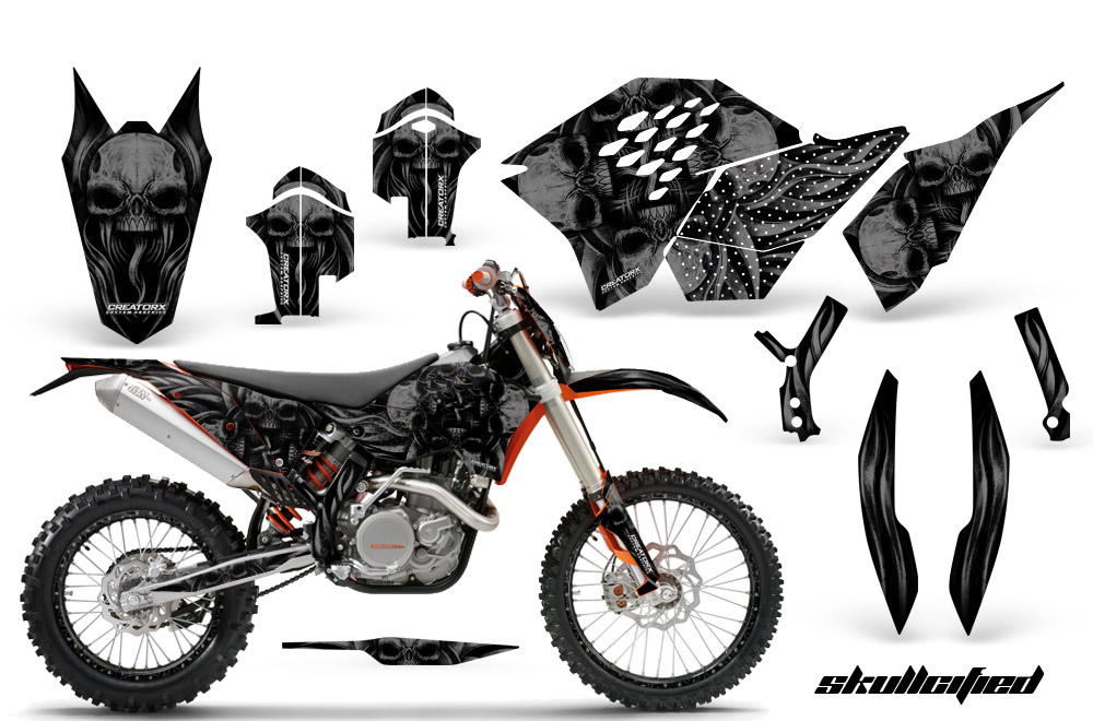 Creatorx Skullcified Dirt Bike Graphics 138 on yamaha 250 dirt bike