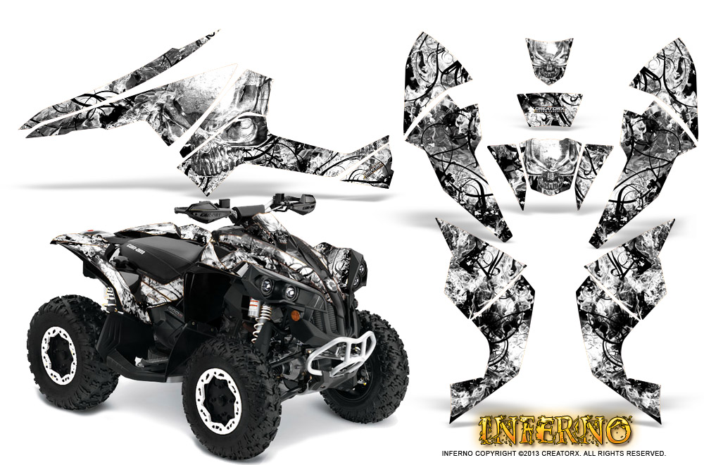 Can Am Renegade 500 800r 800x 1000 Graphics Kit