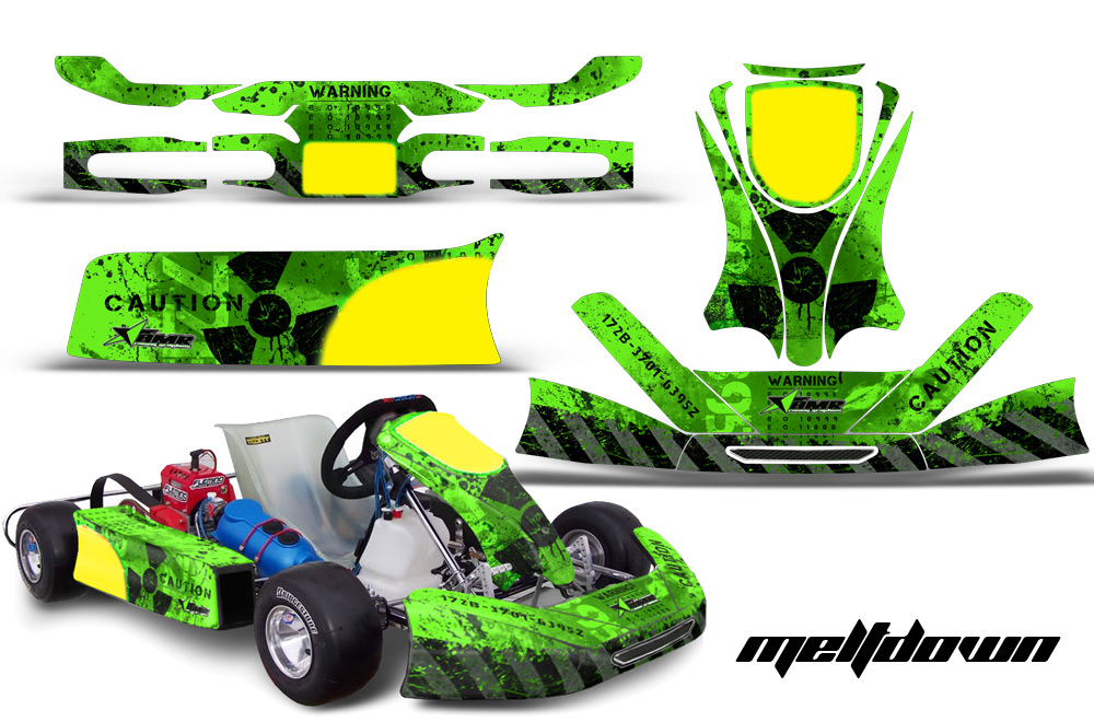 Kg Cadet Kart Graphics Kit For Faring Pods Spoiler