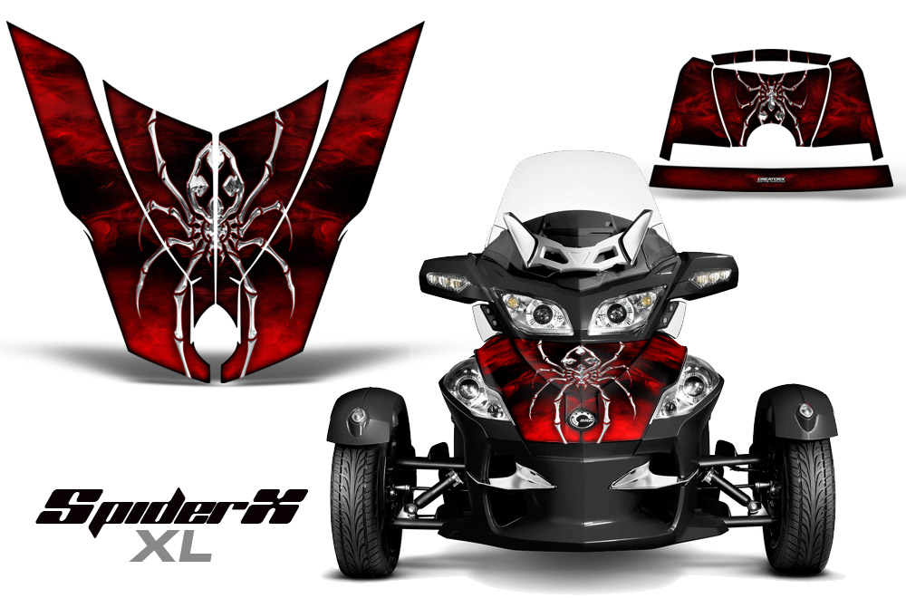 Can Am Brp Spyder Rts Hood And Rear Fender Graphics Kit