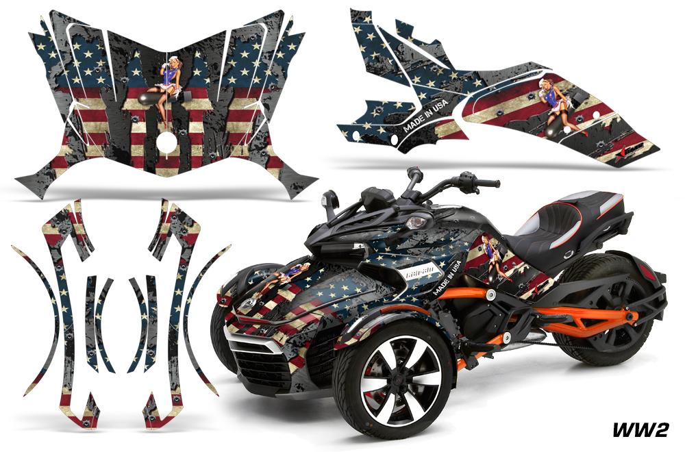 Brp Spyder >> Can-Am BRP Spyder F3-S Graphics Kit
