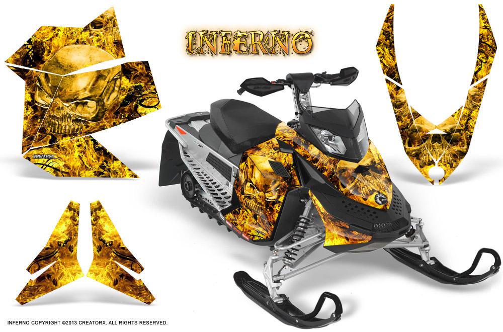 Yellow Ski Doo >> Ski-Doo Can-Am Rev XP 2008-2014 Graphics Kit