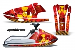 Kawasaki X2 650 Jet Ski Graphic Wrap Kit 1986-1995