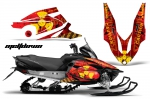 Yamaha Vector RS Sled Snowmobile Graphics Decal Kit 2012-2016