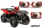 Polaris Sportsman Head Light Eye Graphics for Sportsman 400/550/800/500, 3 Piece