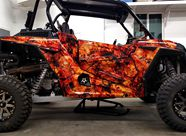 Polaris RZR1000 CREATORX Graphics Inferno Orange