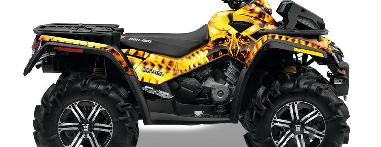 Can-Am Outlander XMR CREATORX Graphics Kit Replicator Yellow
