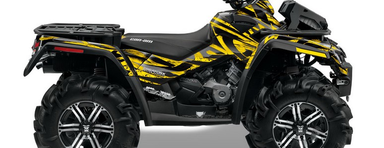 Can-Am Outlander XMR CREATORX Graphics Kit Tribal Madness Yellow BB