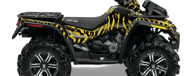 Can-Am Outlander XMR CREATORX Graphics Kit Bolt Thrower Yellow BB