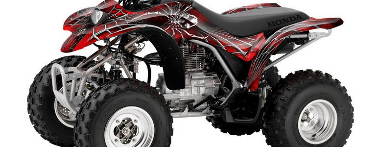 Honda TRX250 02-04 CREATORX Graphics Kit SpiderX Red BB