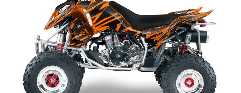 Outlaw 500 06-08 CREATORX Graphics Kit Tribal Madness Orange