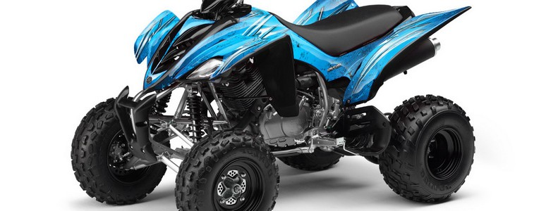 Yamaha Raptor 350 CREATORX Graphics Kit Cold Fusion BlueIce