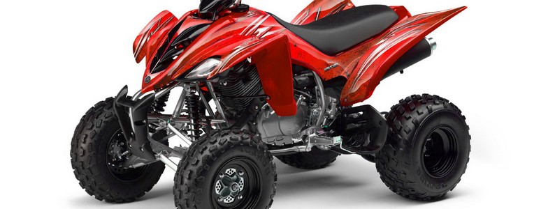 Yamaha Raptor 350 CREATORX Graphics Kit Cold Fusion Red