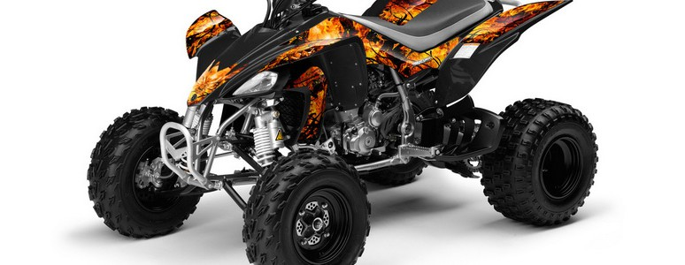 Yamaha YFZ 450 03-08 CREATORX Graphics Kit Inferno Orange