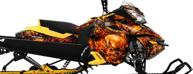 Skidoo RevXM CREATORX Graphics Kit Inferno Orange
