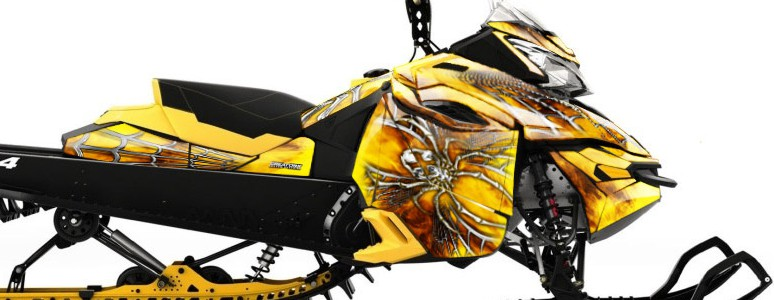 Skidoo RevXM CREATORX Graphics Kit SpiderX Yellow