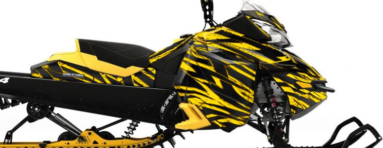 Skidoo RevXM CREATORX Graphics Kit Tribal Madness Yellow