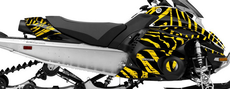 Yamaha FX Nytro CREATORX Graphics Kit ZCamo Yellow