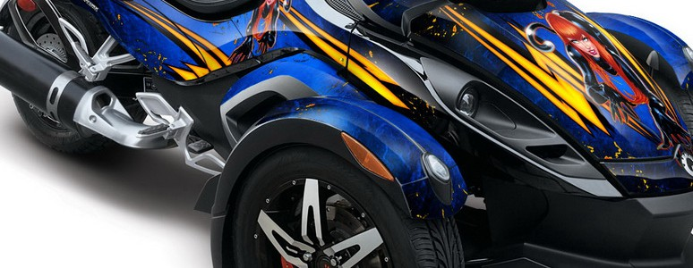 CAN-AM SPYDER CREATORX Graphics Kit Purrfect Blue