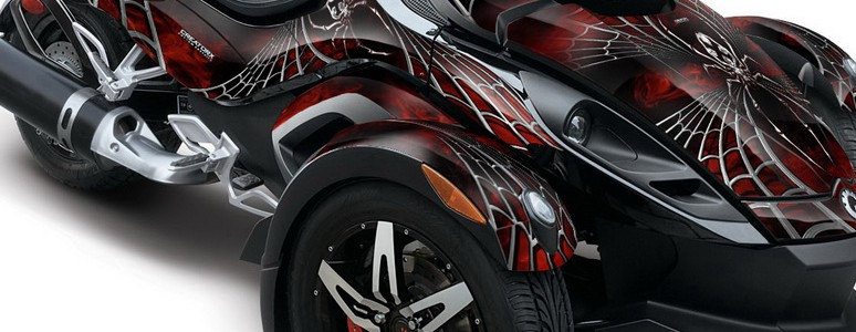 CAN-AM SPYDER CREATORX Graphics Kit SpiderX Red