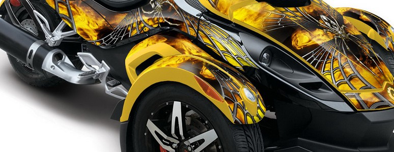 CAN-AM SPYDER CREATORX Graphics Kit SpiderX Yellow