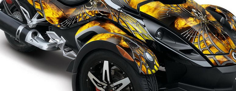 CAN-AM SPYDER CREATORX Graphics Kit SpiderX Yellow BB