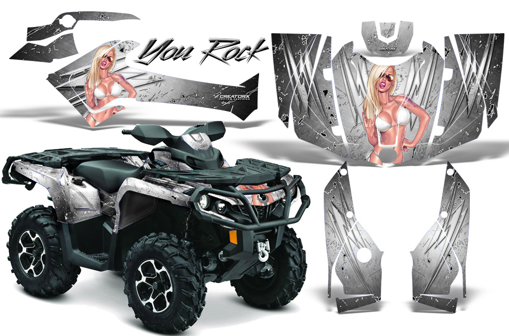 CAN-AM OUTLANDER 800 1000 R XT 12-16 GRAPHICS KIT CREATORX DECALS INFERNO S