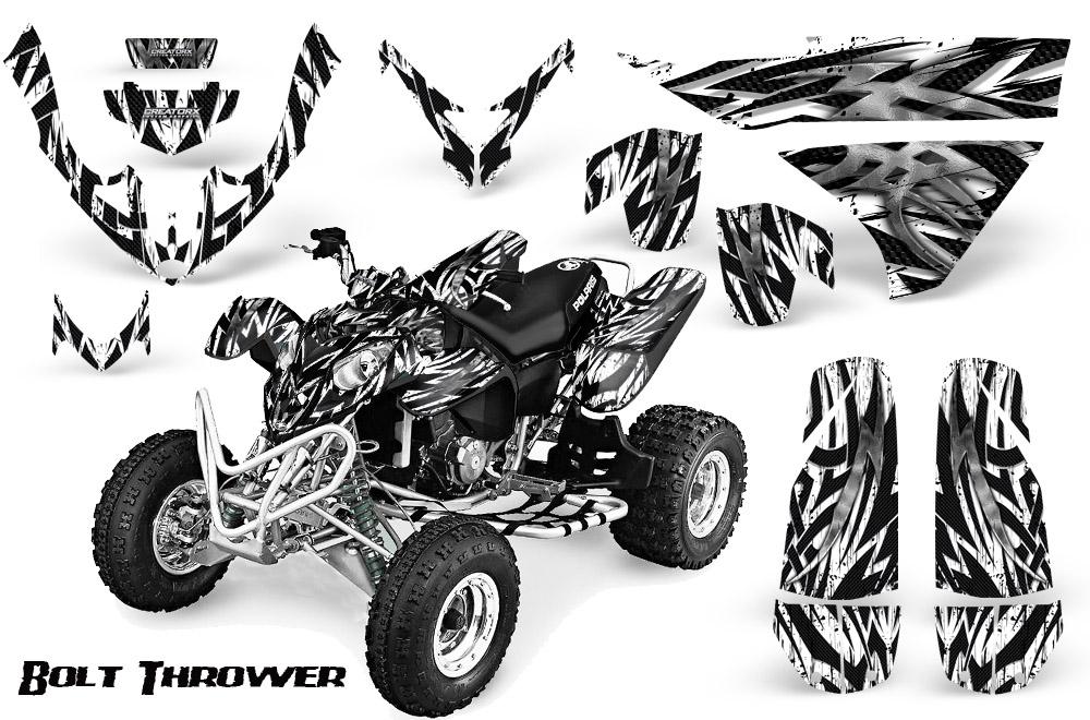 Black Design Head Creeps Polaris Outlaw 500 Graphics Kit