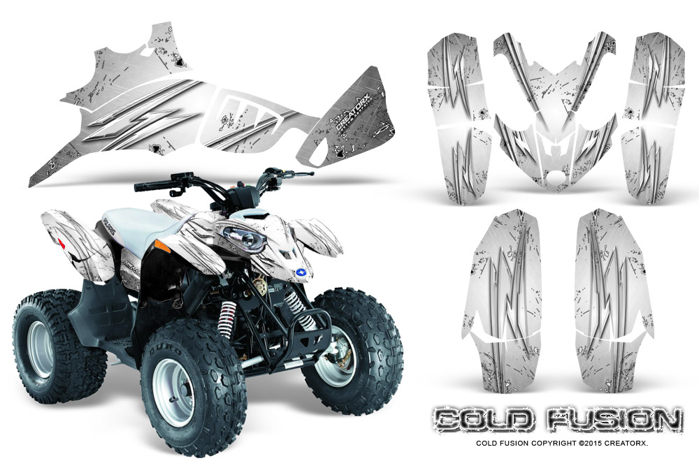 POLARIS PREDATOR 90 GRAPHICS KIT CREATORX DECALS COLD FUSION BL