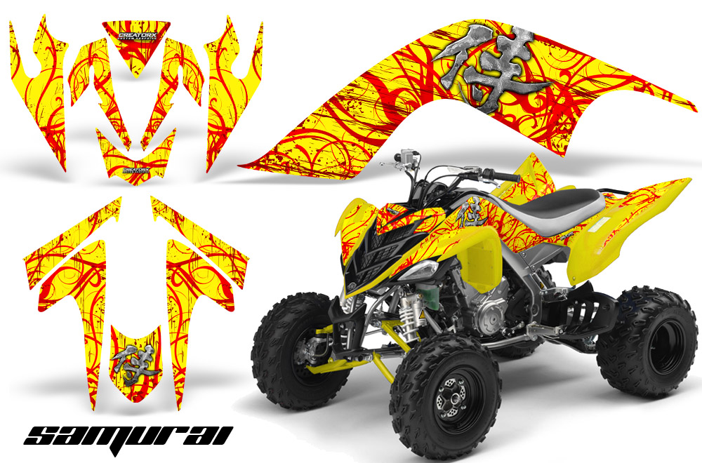 Yamaha Raptor 700 Graphics Kit Decals Stickers Creatorx Samurai Ry