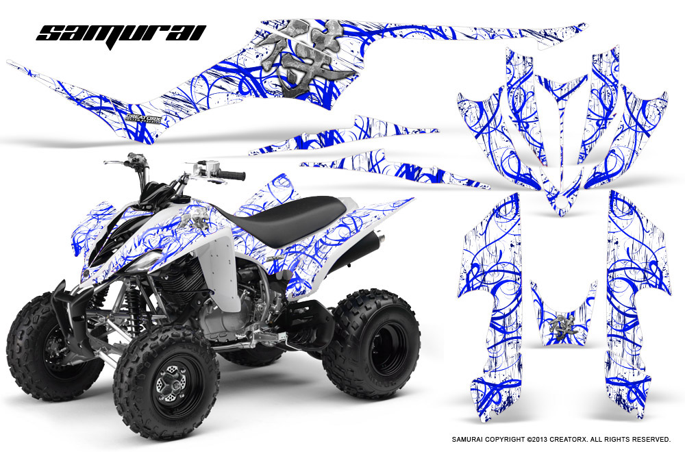 Yamaha Raptor 350 Graphics Kit Creatorx Decals Stickers Samurai BLW