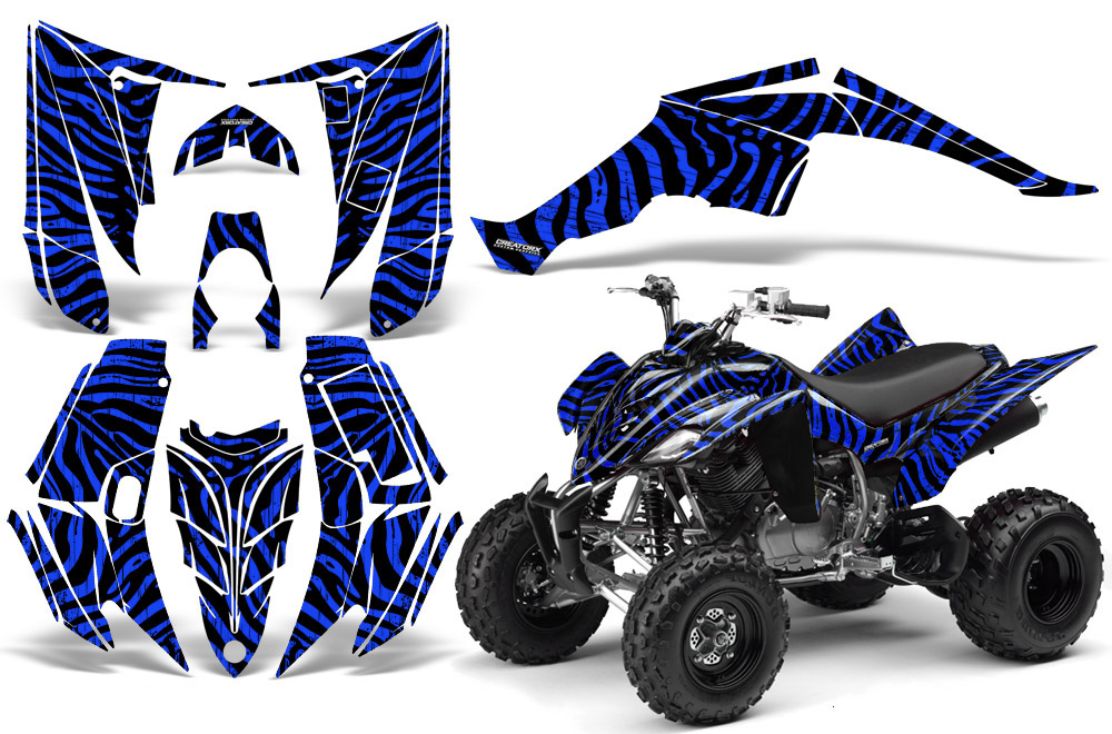Yamaha Raptor 350 Graphics Kit Creatorx Decals Stickers ZCBL