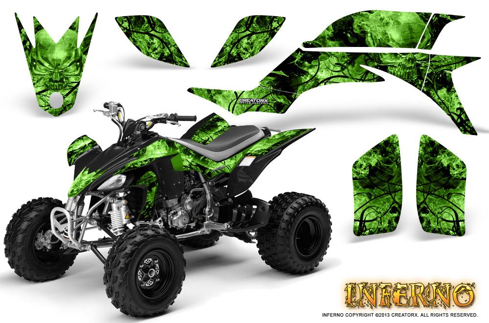 YAMAHA YFZ 450 03-13 ATV GRAPHICS KIT DECALS STICKERS CREATORX INFERNO P