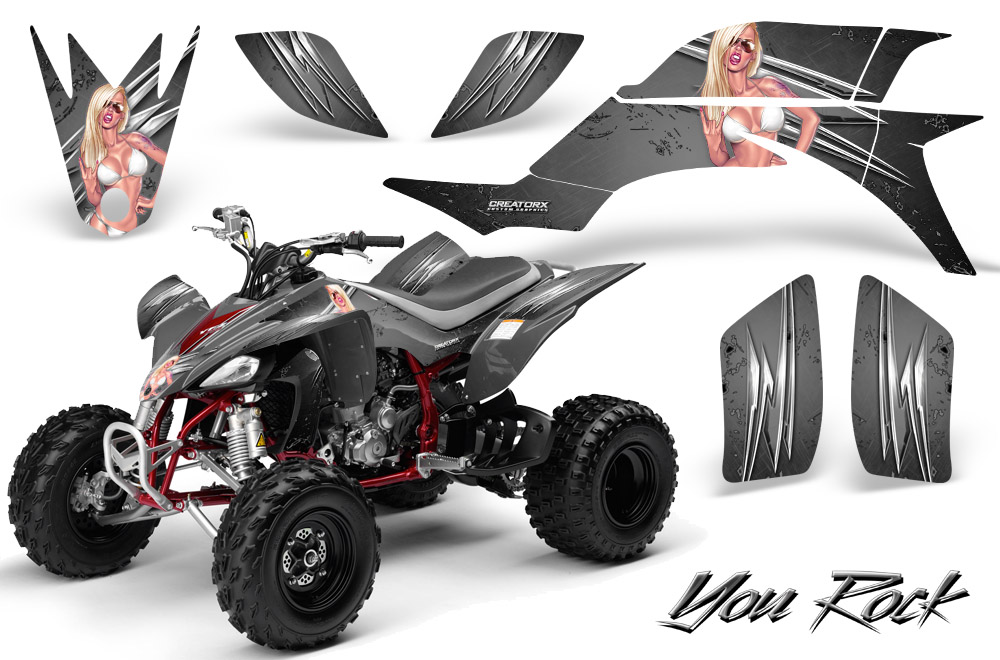 Yamaha YFZ 450 03 08 ATV Graphics Kit Decals Stickers Creatorx Yrs