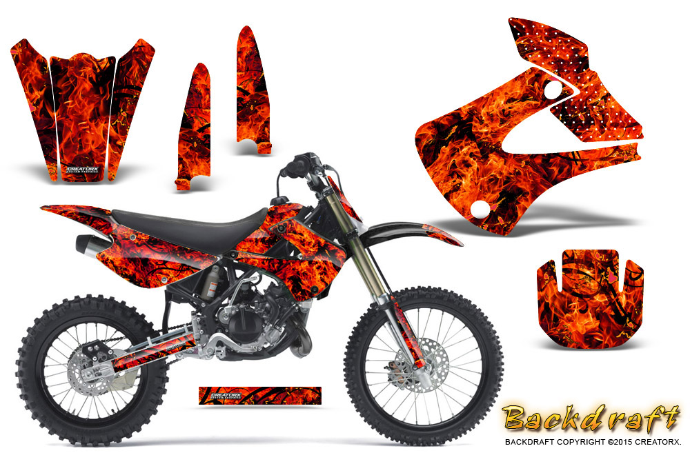Details about Kawasaki KX85 KX100 2001-2013 Graphics Kit CREATORX Decals  BACKDRAFT R