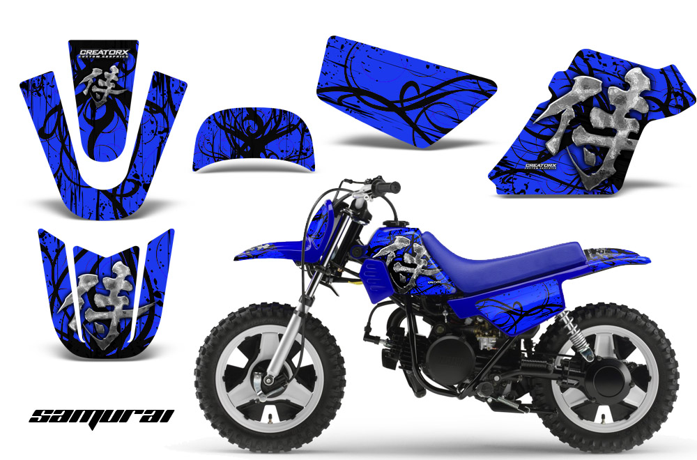 Yamaha PW50 Graphics Kit Decals Samurai Bbl