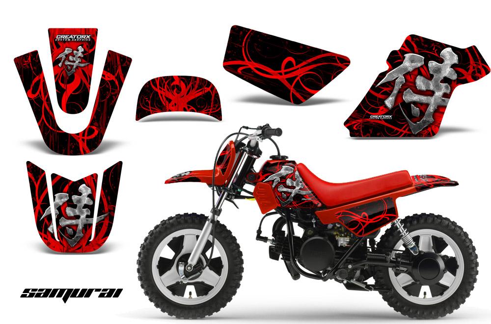 Yamaha PW50 Graphics Kit Decals Samurai RB