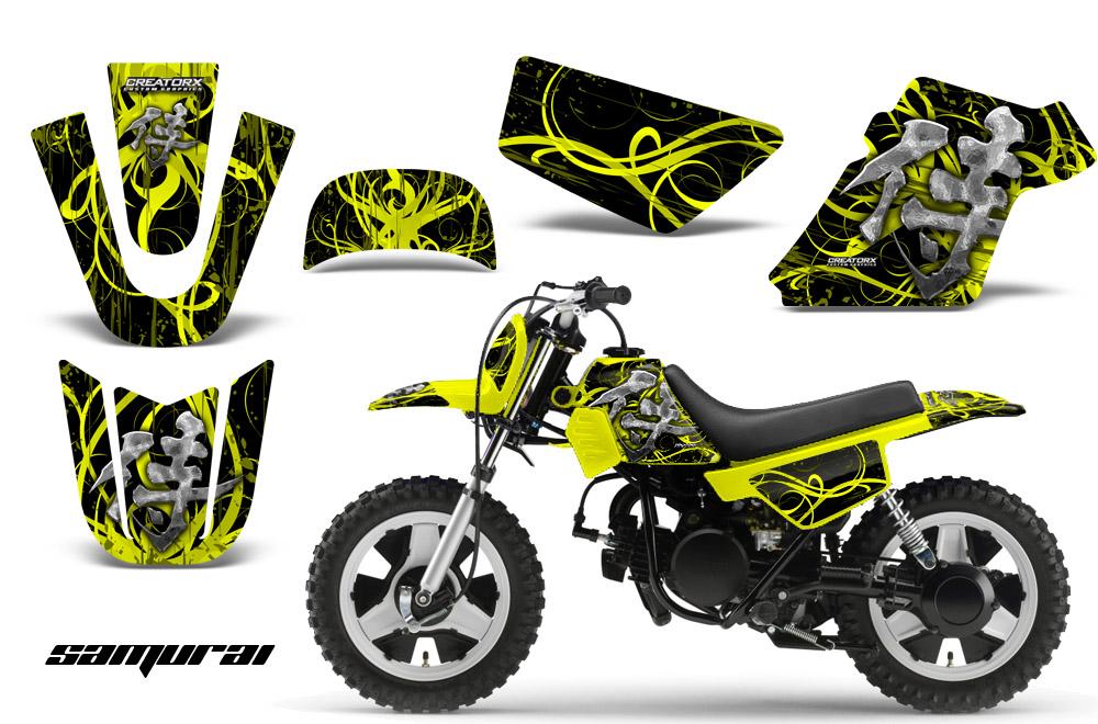 Yamaha PW50 Graphics Kit Decals Samurai YB